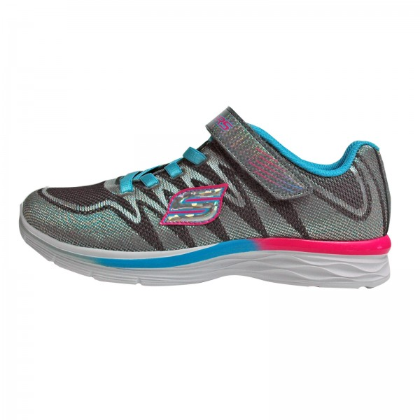 Skechers Mädchen Sneakers Whimsy Girl 81131L/ CCTQ, Charcoal/Turquoise