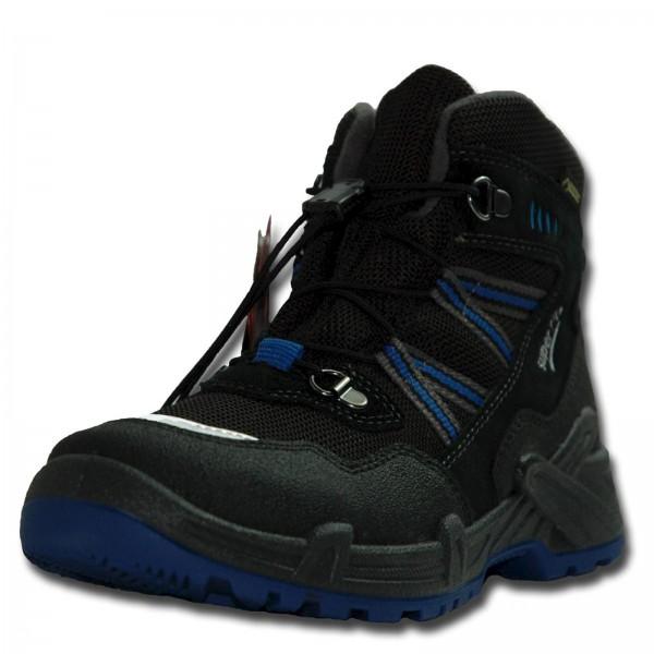 LEGERO SUPERFIT Jungen Schneestiefel CANYON, für breite Füße, schwarz/blau