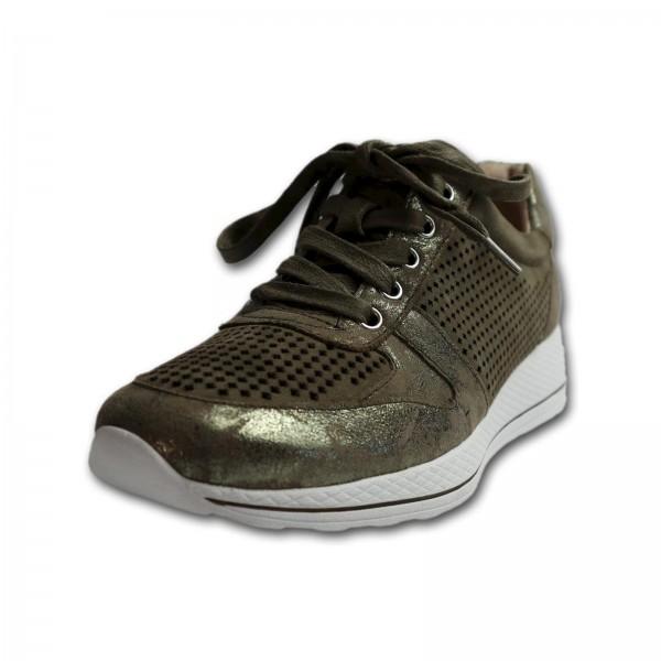 Caprice Damen Sneaker SUEDE, Khaki, Weite G