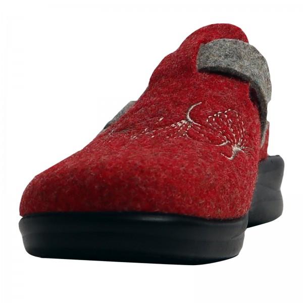 Damen Pantoffeln Rot/Comb 863684