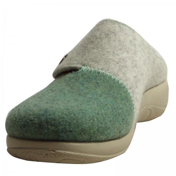 Damen Pantoffeln Hellgr./Comb 863664