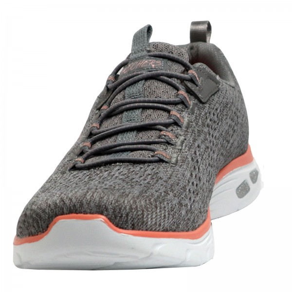 Skechers Damen Sneakers Gray/Coral 12824/GYCL