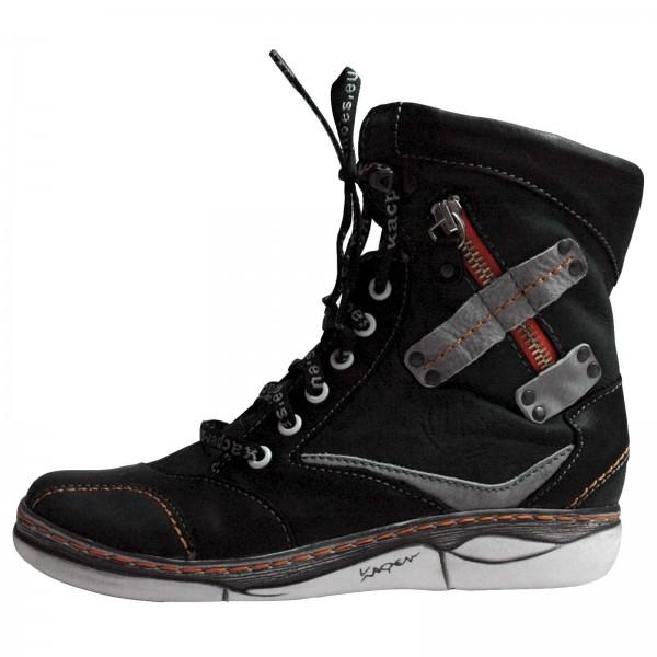 Kacper Damen Boots, 4-6424 grau-schwarz