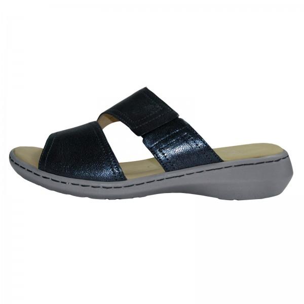 Caprice Damen Pantolette 92720028890, Deep Blue Meta, Schuhweite H
