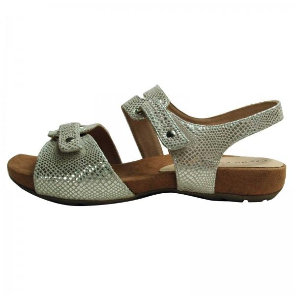Caprice Damen-Sandalen silber, Weite G